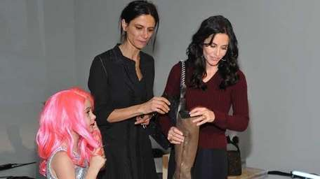Coco Riley Arquette, designer Maryam Malakpour, and actress