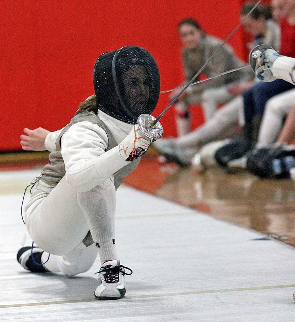 Ward Melville's Demi Antipas during her foil match