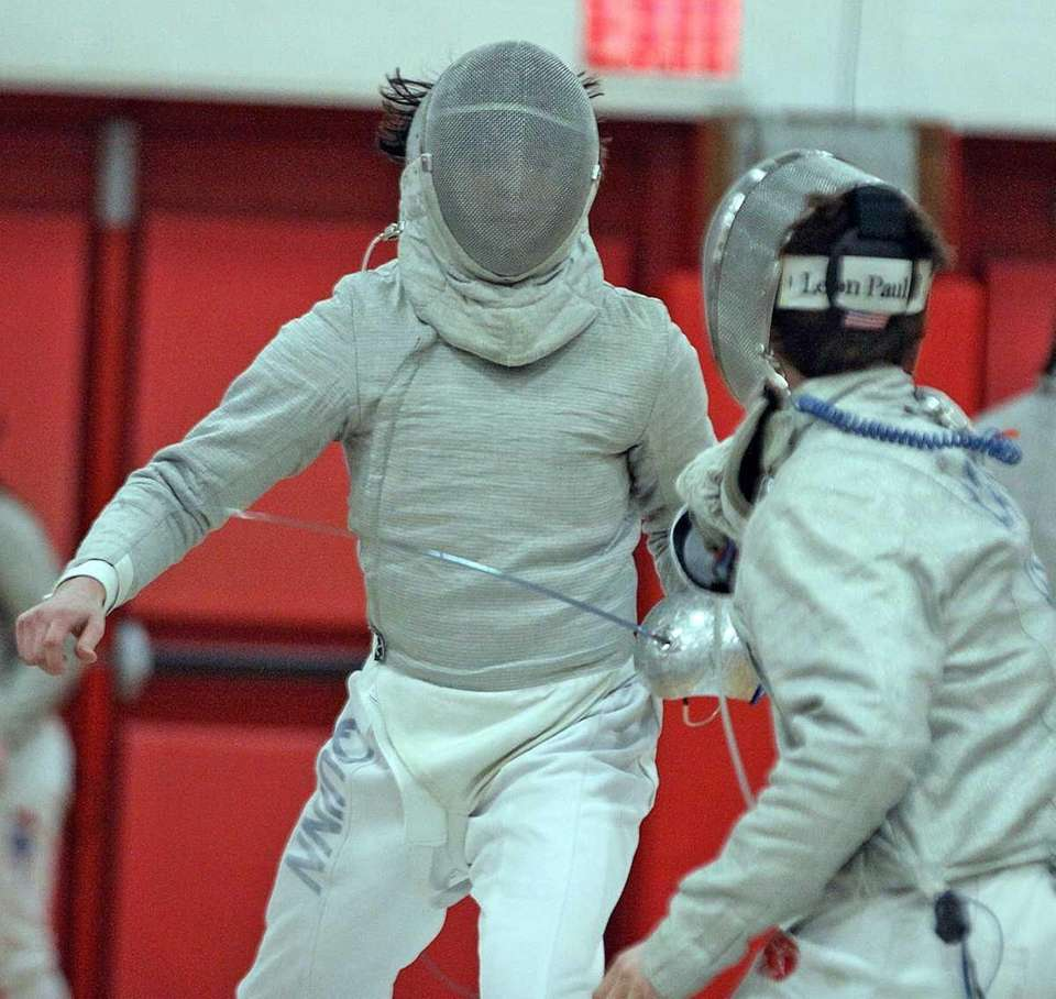 Ward Melville's Travis Quinn during his sabre match