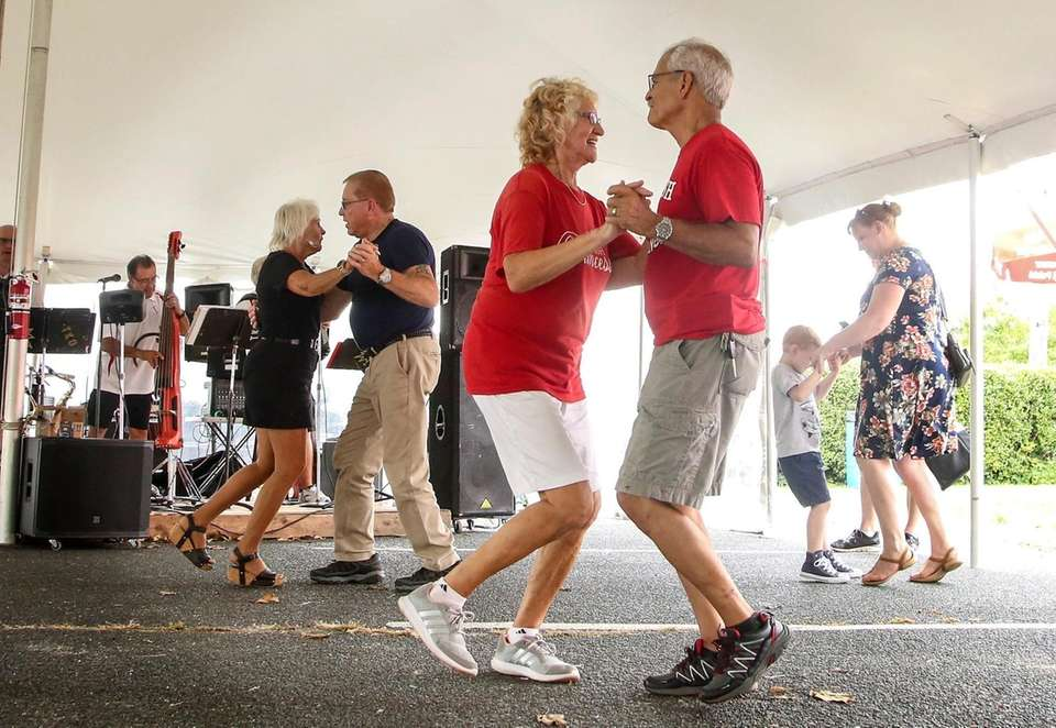 As thousands crowded the streets of Riverhead's Polish