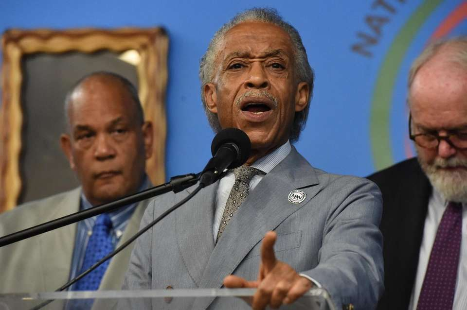 Rev. Al Sharpton was joined by Emerald Garner