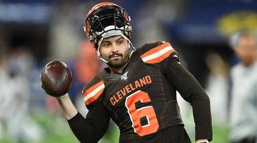 Baker Mayfield of the Cleveland Browns prior to