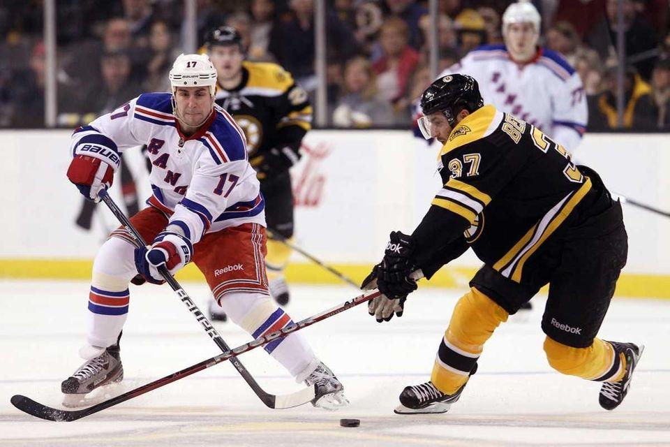 Brandon Dubinsky of the New York Rangers and
