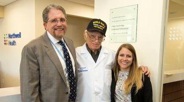 From left, Dr. Joseph Conigliaro, a professor at