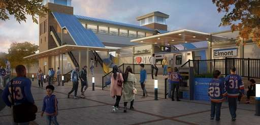 The Elmont Station, as seen in this rendering,