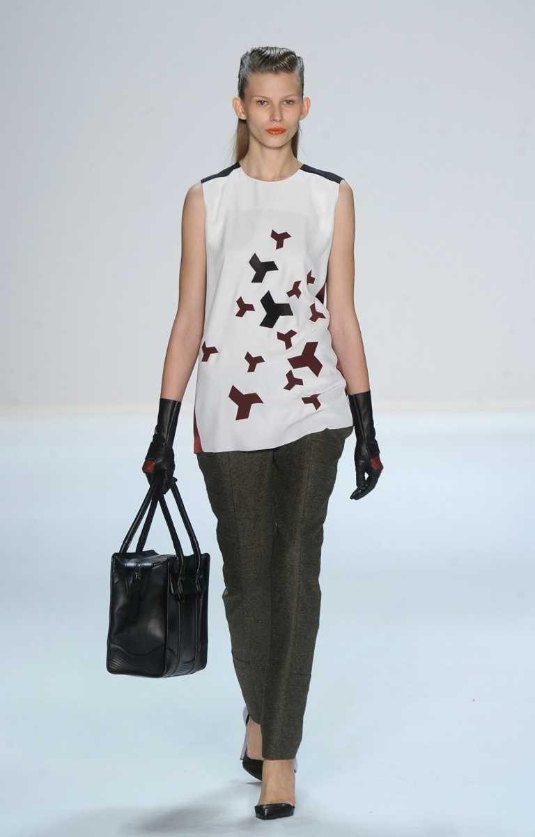 NARCISO RODRIGUEZ: A model walks the runway