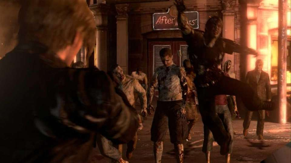 Screenshot from Resident Evil 6, the latest installment