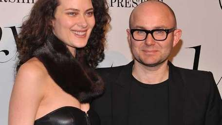 Shalom Harlow and Solve Sundsbo attend the