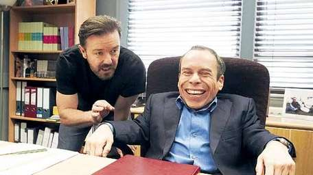 Ricky Gervais and Warwick Davis star in HBO's