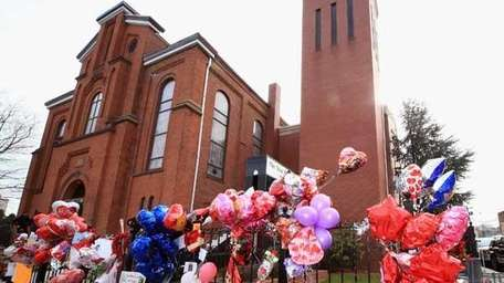 Outside of The New Hope Baptist Church on