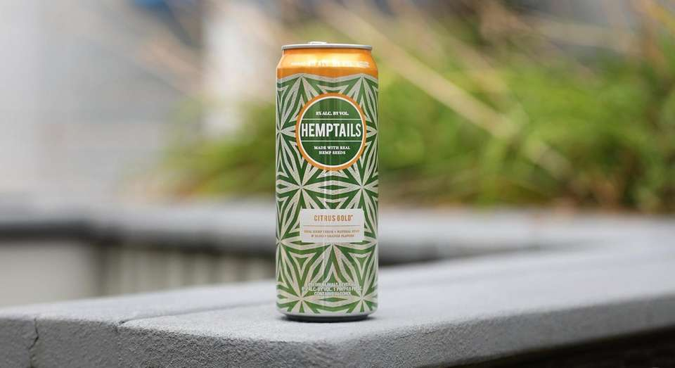 Cocktails in a can. Hemptails Citrus Gold.