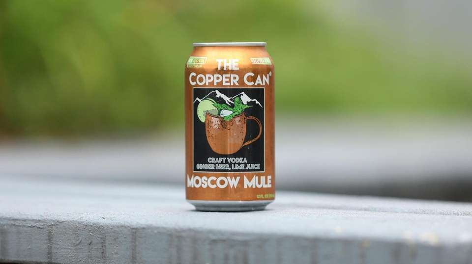 Cocktails in a can. The Copper Can Moscow