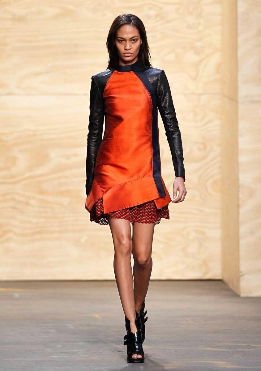 A model walks the runway at the Proenza