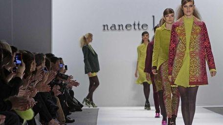 Models walk the runway during the Nanette Lepore