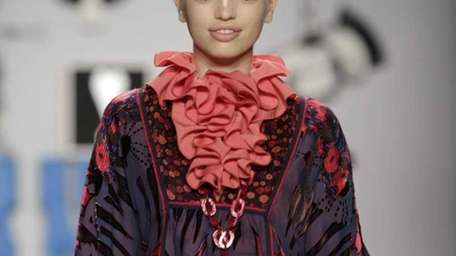 The Anna Sui Fall 2012 collection is modeled