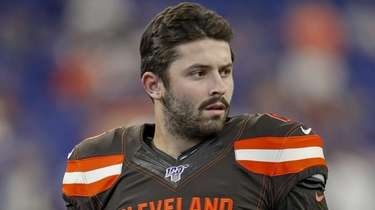 Browns quarterback Baker Mayfield  at Lucas Oil