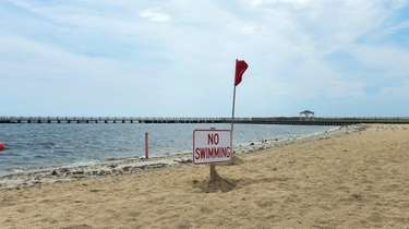 Tanner Beach was closed to swimming on Wednesday,