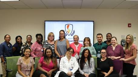 Northwell nurses, seen here on Wednesday, were certified