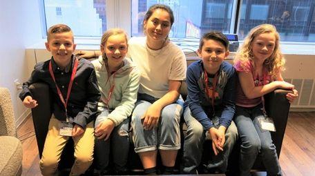 Singer Jasmine Thompson with Kidsday reporters Dominic Traube,