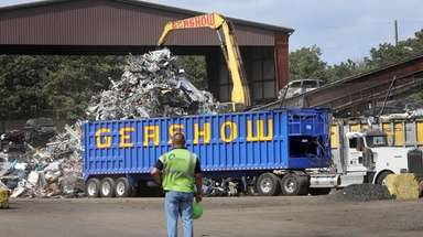 The Gershow recycling facility on Peconic Avenue in
