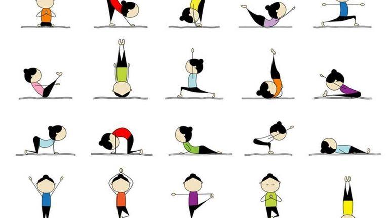 25 yoga poses.