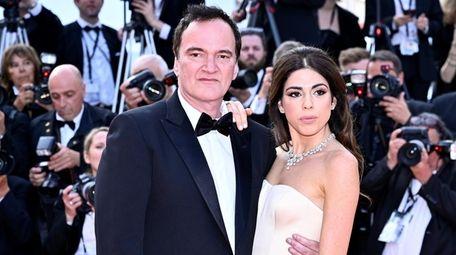 Quentin Tarantino and his wife, Daniella Pick, arrive