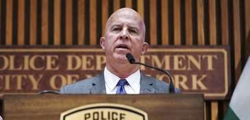 New York City Police Commissioner James O'Neill speaks