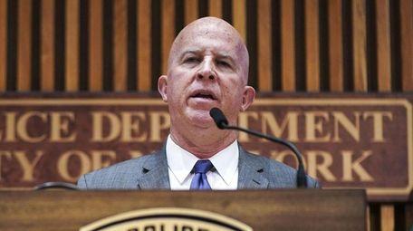 New York City Police Commissioner James O'Neill speaks