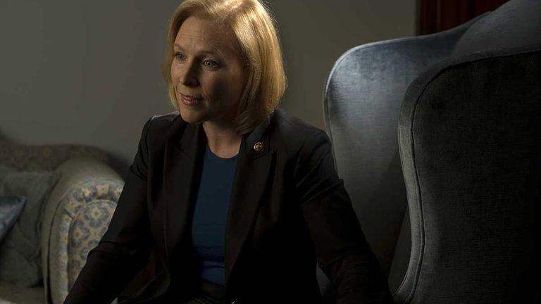 Democratic U.S. Sen. Kirsten Gillibrand at her office