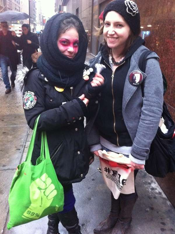 Julie Goldsmith and Emily Breunig of Occupy Fashion