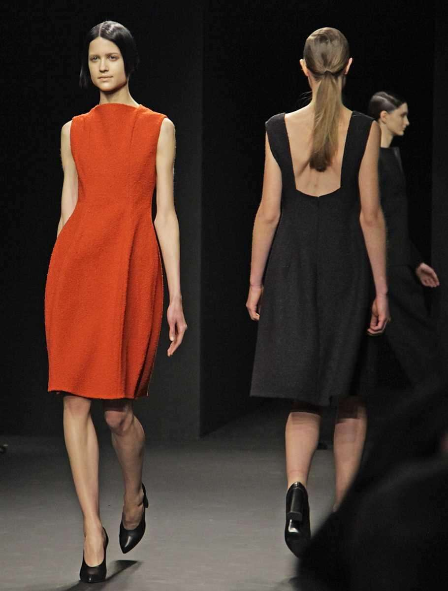Fashion from the Fall 2012 collection of Calvin
