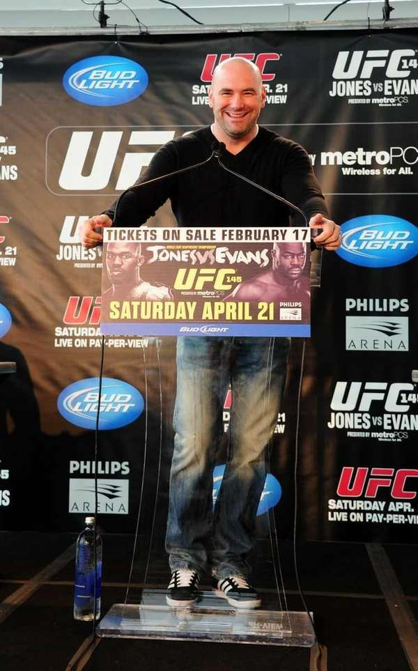 UFC President Dana White speaks during a press