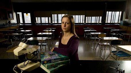 Biology teacher Jennifer Sullivan in her classroom at