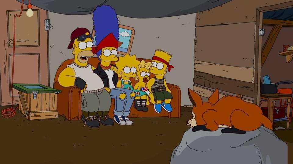 The Simpsons are evicted from Springfield and join