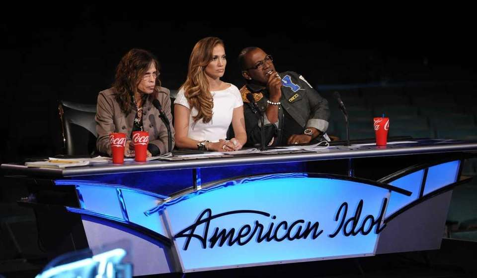 Judges Steven Tyler, Jennifer Lopez and Randy Jackson