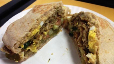 Sabih (Middle Eastern sandwich) at Roslyn Village Pizza