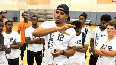 Tobias Harris of the Philadelphia 76ers at his