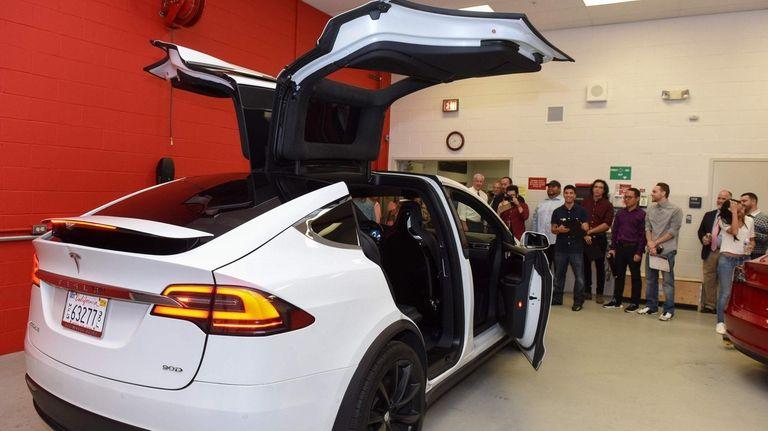 Tesla technician training program at SCCC graduates first