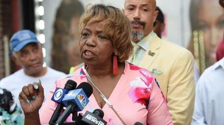 Gwen Carr, mother of Eric Garner, speaks Thursday