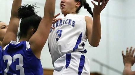 Herricks' Alison Ricchiuti sinks a basket over Valley