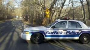 Suffolk County police are on the scene Saturday