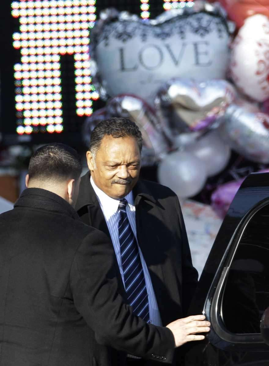 The Rev. Jesse Jackson returns to his car