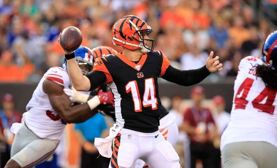 CINCINNATI, OHIO - AUGUST 22: Andy Dalton #14