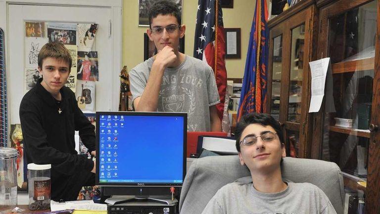 Great Neck North High School students Alex Storozum,