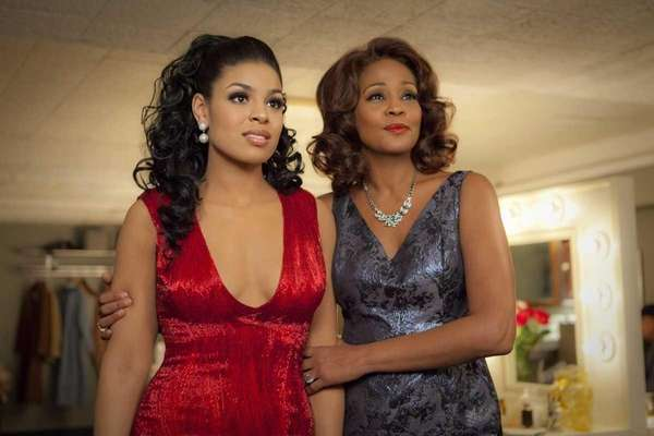 Singer-actresses Jordin Sparks, left, and Whitney Houston are