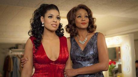 Singer-actresses Jordin Sparks, left, and Whitney Houston are