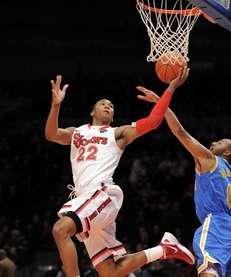 Amir Garrett of St. John's shoots over Jerime
