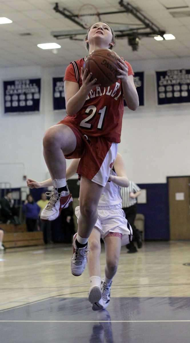 Wheatley's Rebecca Braito with layup during the Nassau