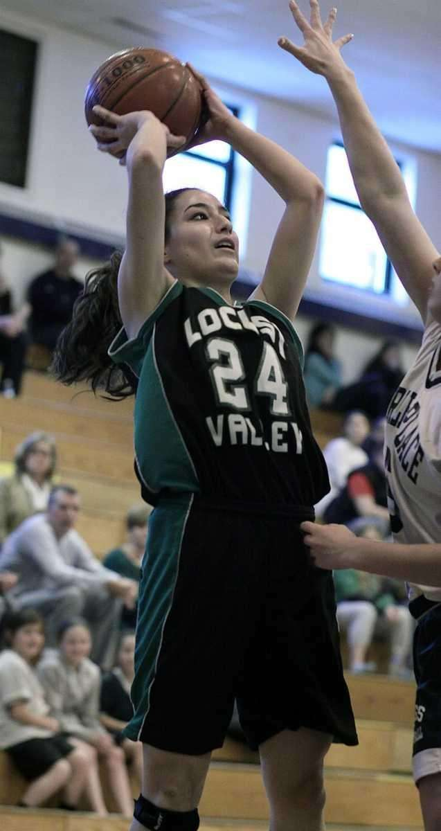 Locust Valley's Natasha Jahchan shoots while covered by
