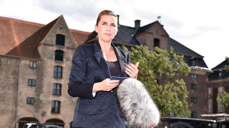 Denmark's Prime Minister Mette Frederiksen comments Wednesday about